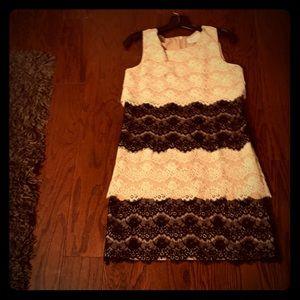Jessica Simpson lace overlay shift dress.